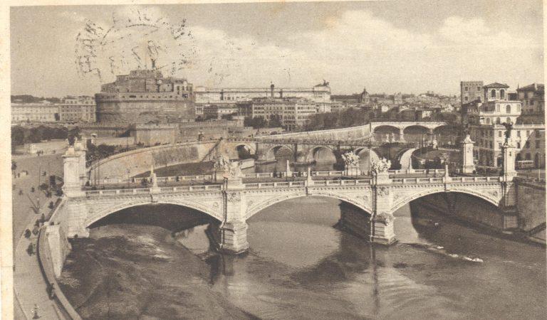 Vecchia Cartolina – Panoramica Tevere e Castel Sant'Angelo