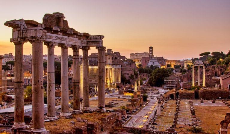 L'alba al Foro Romano